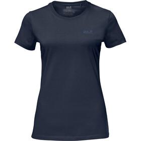 Jack Wolfskin Essential t-shirt Dames blauw